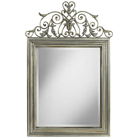 "Uttermost Civray 28"" x 42 1/4"" Metal Wall Mirror"