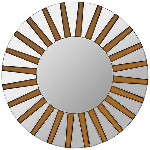 "Cooper Classics Emele 36"" Sunburst Wood Wall Mirror"