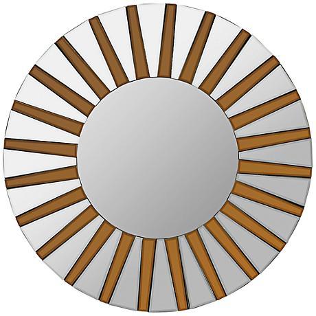 """Cooper Classics Emele 36"""" Sunburst Wood Wall Mirror"""