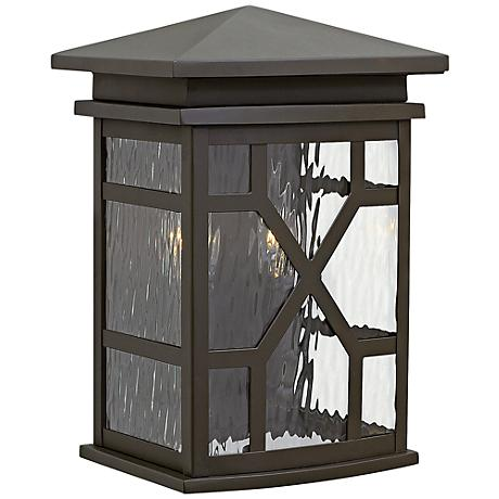 """Hinkley Clayton 12 1/2"""" High Oil-Rubbed Bronze Outdoor Wall Light"""