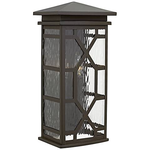 "Hinkley Clayton 18 1/2"" High Oil-Rubbed Bronze Outdoor Wall Light"