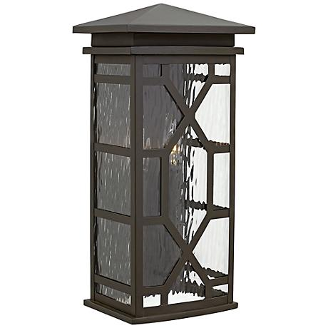 """Hinkley Clayton 18 1/2"""" High Oil-Rubbed Bronze Outdoor Wall Light"""