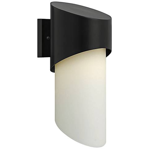 "Hinkley Solo 16 3/4"" High Satin Black Outdoor Wall Light"