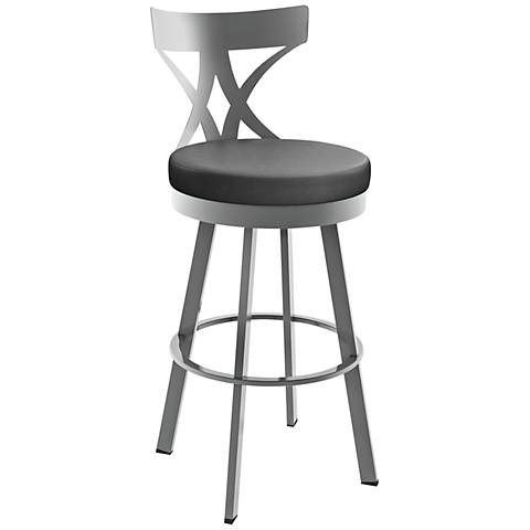 Zuo Moor 26 Quot Dark Gray Leatherette Metal Counter Chair