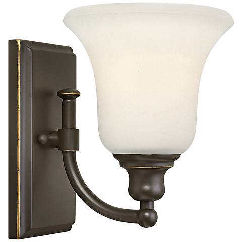 "Hinkley Colette 8 1/4"" High Oil-Rubbed Bronze Wall Sconce"