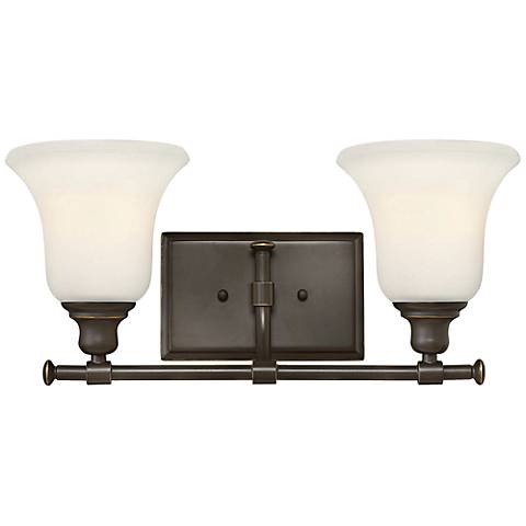"Hinkley Colette 16 1/2"" Wide Oil-Rubbed Bronze Bathroom Light"