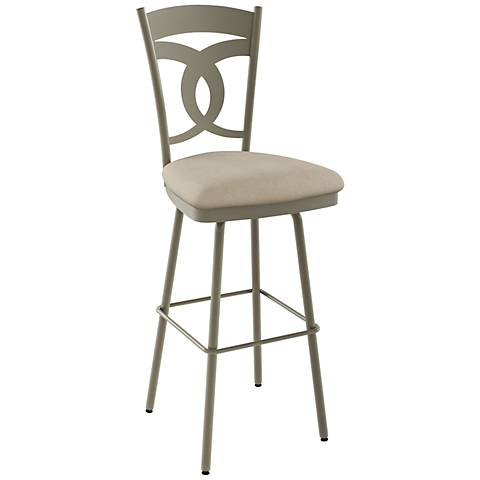 "Amisco Valley Pebble 30"" Titanium Warm Gray Bar Stool"