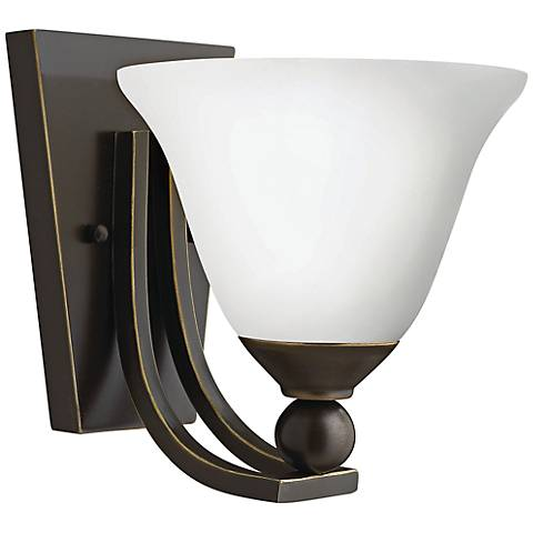 "Hinkley Bolla 8 1/2"" High Olde Bronze Opal Wall Sconce"