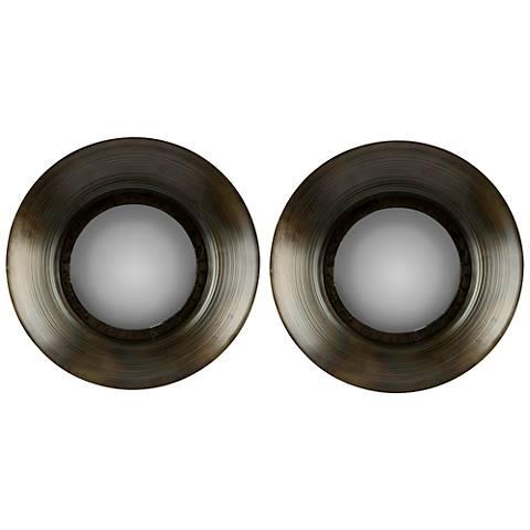 "Cooper Classics Sashi 14 1/2"" Round Wall Mirror Set of 2"