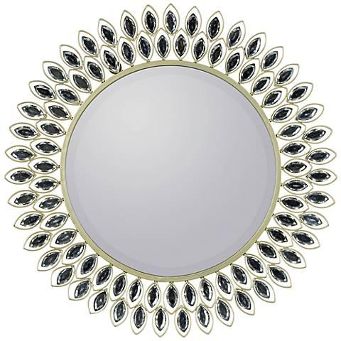 """Cooper Classics Warner 23 1/2"""" Sunburst Metal Wall Mirror"""