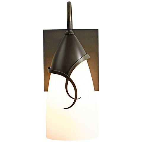"Hubbardton Forge Flora 11 3/4"" High Smoke Outdoor Wall Light"