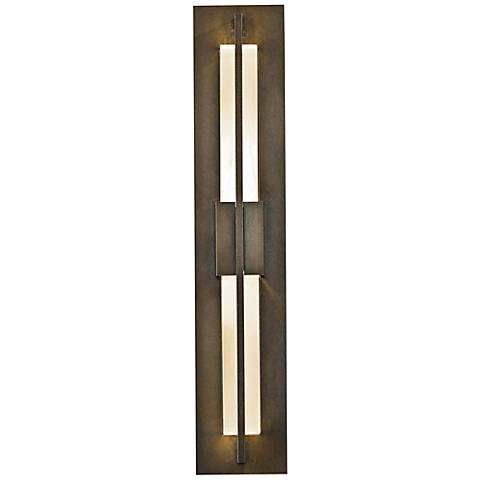 "Double Axis 23 1/2"" High Bronze LED Outdoor Wall Light"