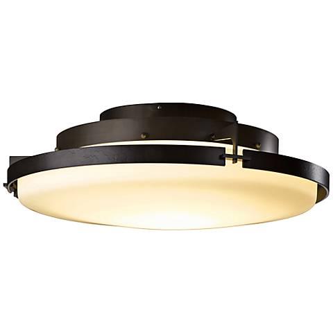 "Hubbardton Forge Metra 24 1/2"" Wide Smoke LED Ceiling Light"