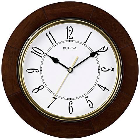"Bulova Cherryhill 12"" Round Wall Clock"