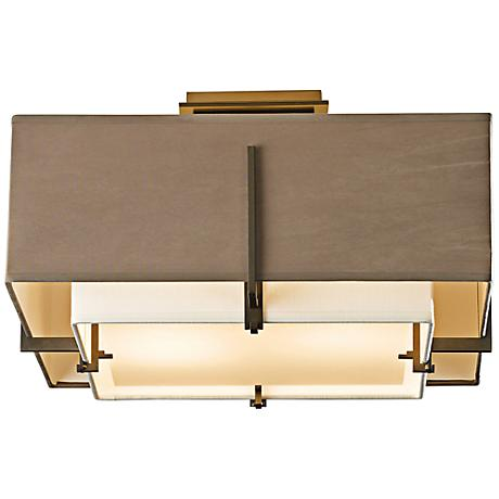 "Hubbardton Forge Exos 16 3/4"" Wide Dark Smoke Ceiling Light"