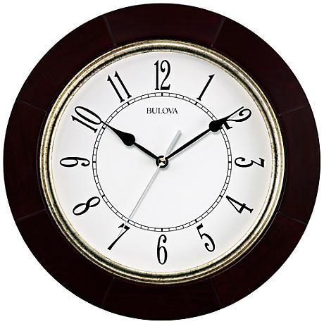 "Bulova Espresso 12"" Round Wall Clock"