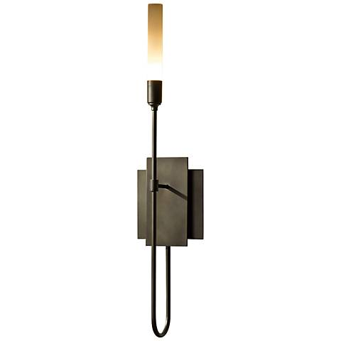 "Hubbardton Forge Lisse 22"" High Dark Smoke Wall Sconce"
