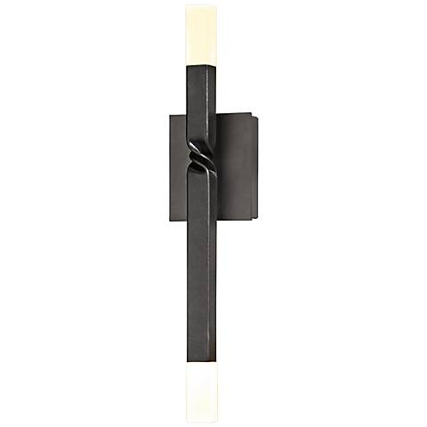 "Hubbardton Forge Helix 21"" High Dark Smoke LED Wall Sconce"