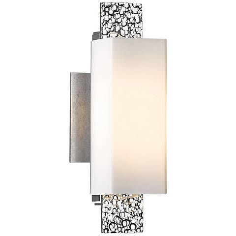 "Hubbardton Forge Oceanus 12 1/2"" High Platinum Wall Sconce"