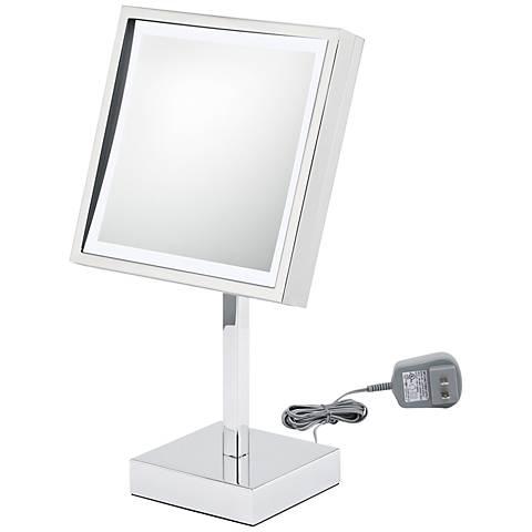 Aptations LED Square Chrome Makeup Mirror