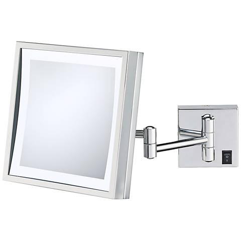 Aptations Chrome Plug-In LED Wall Mirror