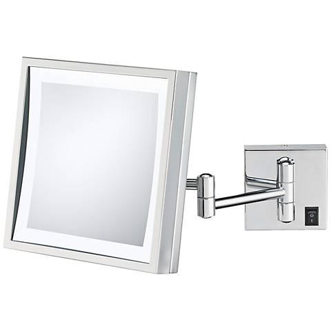 Aptations Polished Nickel Plug-In LED Wall Mirror