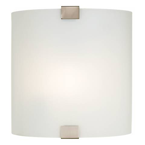 """Curved Frosted Glass 17 3/4"""" Wide Wall Light"""