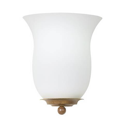 "Ball and Bobeche 9 1/2"" High ADA Compliant Wall Sconce"
