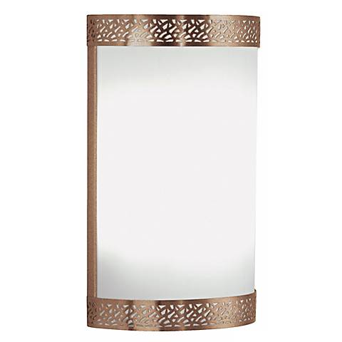 "Metal Openwork 12 3/4"" High Olde Bronze Wall Sconce"