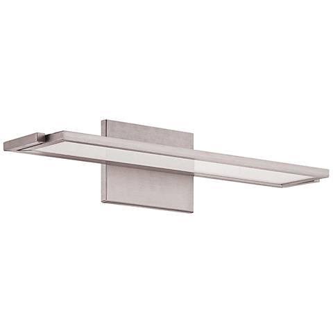 "WAC Line 18"" Wide Brushed Aluminum LED Wall Sconce"