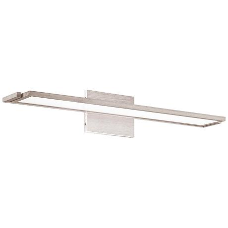"""WAC Line 24"""" Wide Brushed Aluminum LED Wall Sconce"""