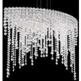 "Schonbek Chantant 33"" Wide Large Crystal Pendant Light"