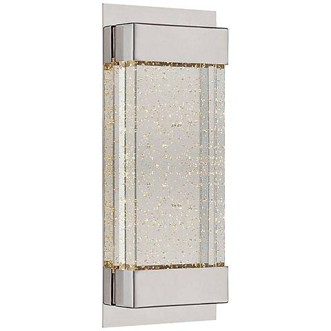 "WAC Mythical 13"" High Polished Nickel LED Wall Sconce"