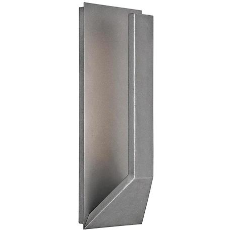"""WAC Uno 15"""" High Graphite Outdoor LED Wall Light"""