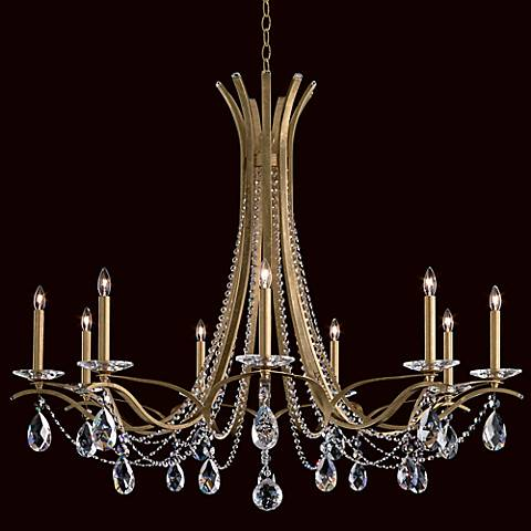 "Schonbek Vesca 45"" Wide Heirloom Gold Chandelier"