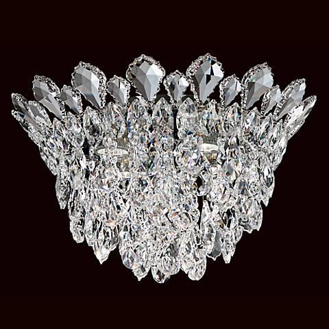 """Schonbek Trilliane Cluster 17"""" Wide Crystal Ceiling Light"""