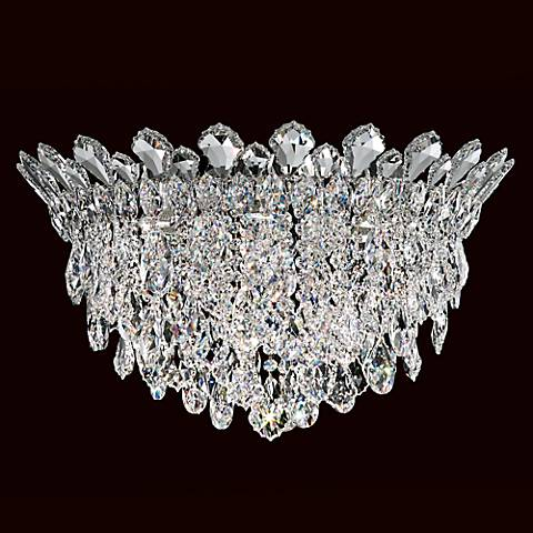 """Schonbek Trilliane Cluster 24"""" Wide Crystal Ceiling Light"""