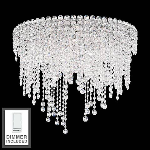 "Chantant 24"" Wide Crystal Ceiling Light with Dimmer"