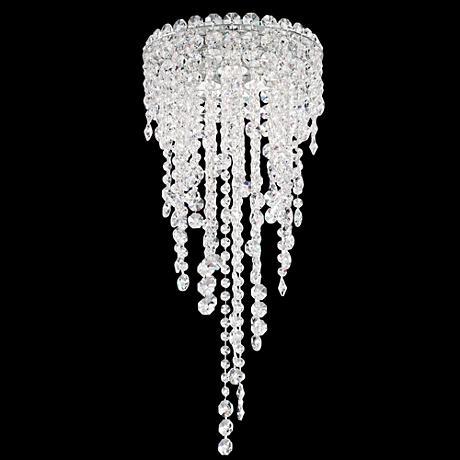 "Schonbek Chantant 10 1/2"" Wide Crystal Ceiling Light"