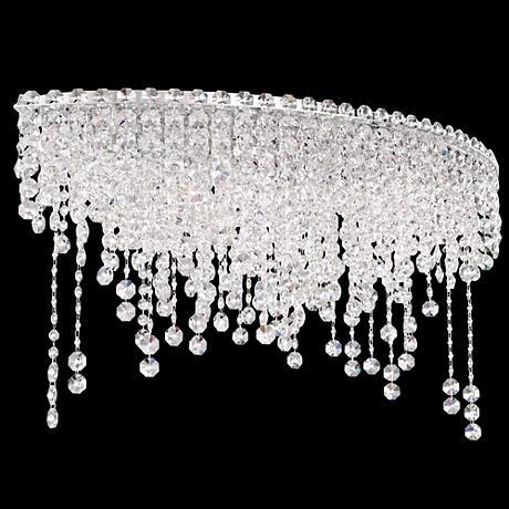 "Schonbek Chantant 33"" Wide Crystal Ceiling Light"