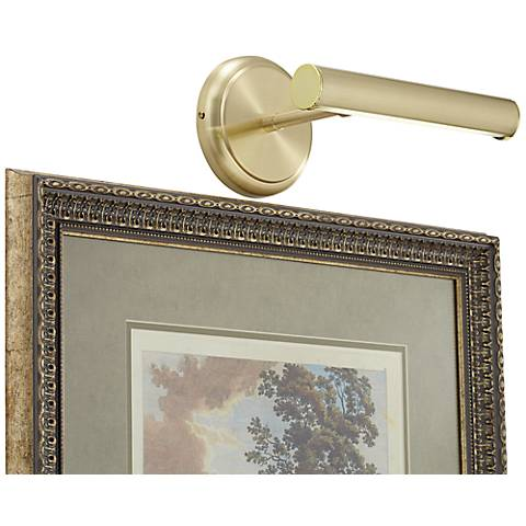 """Artista 9 1/2"""" Wide Polished Brass LED Picture Light"""