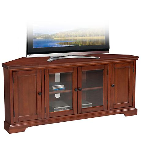 "Leick Westwood Cherry 60"" Corner TV Stand"