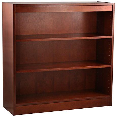 Laguna Cherry Adjustable 3-Shelf Bookcase