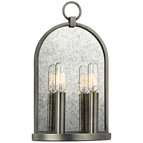"""Hudson Valley Lowell 13 3/4"""" High 2-Light Antique Sconce"""
