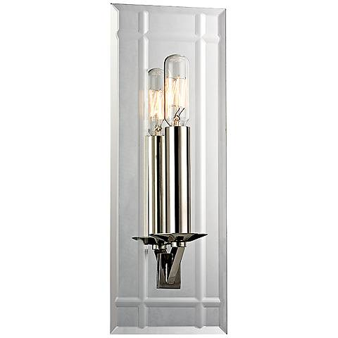 "Hudson Valley Austin 13 1/4"" High Polished Nickel Sconce"