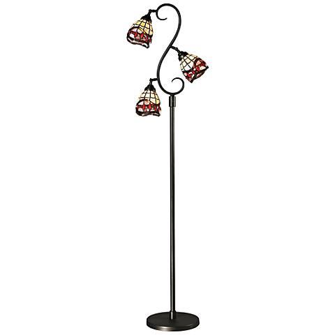 Dale Tiffany Fall River 3-Light Bronze Floor Lamp