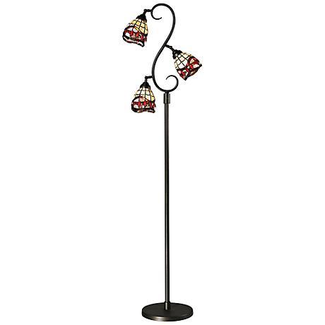 Dale Tiffany Fall River 3-Light Bronze Floor Lamp