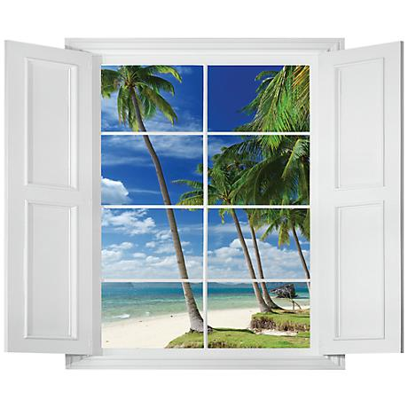 Tropical Beach Paradise Wall Decal