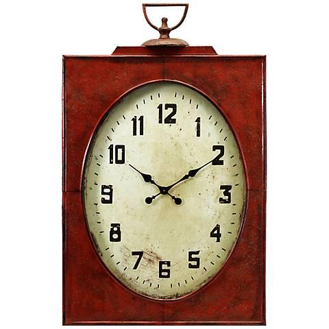 "Carnen Oversized 47"" High Red Wall Clock"