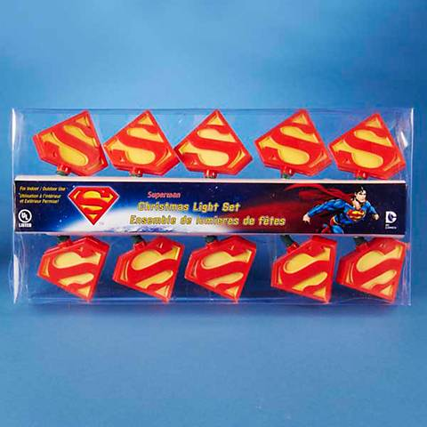 Ten Superman Party String Lights